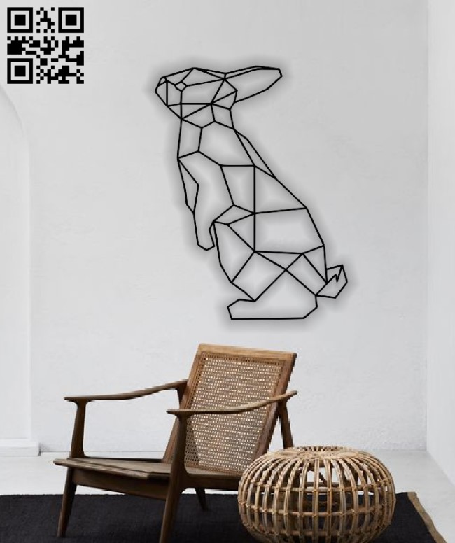 Bunny mural E0012838 file cdr and dxf free vector download for laser cut