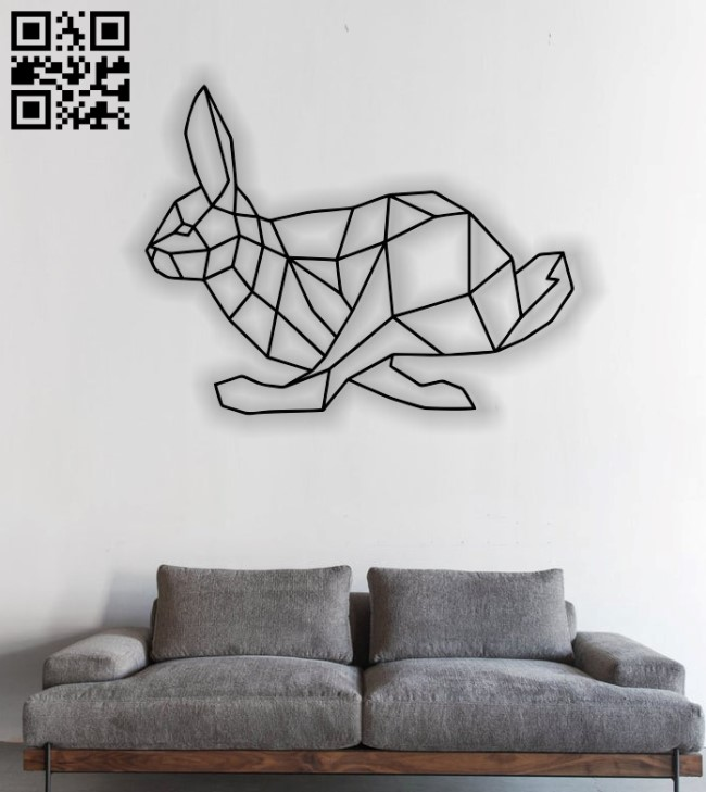 Bunny mural E0012839 file cdr and dxf free vector download for laser cut