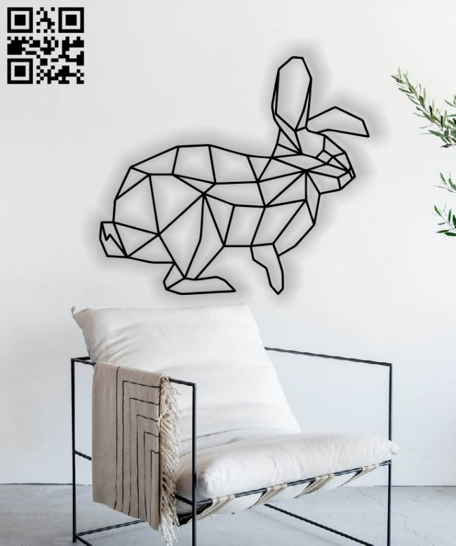 Bunny mural E0012840 file cdr and dxf free vector download for laser cut