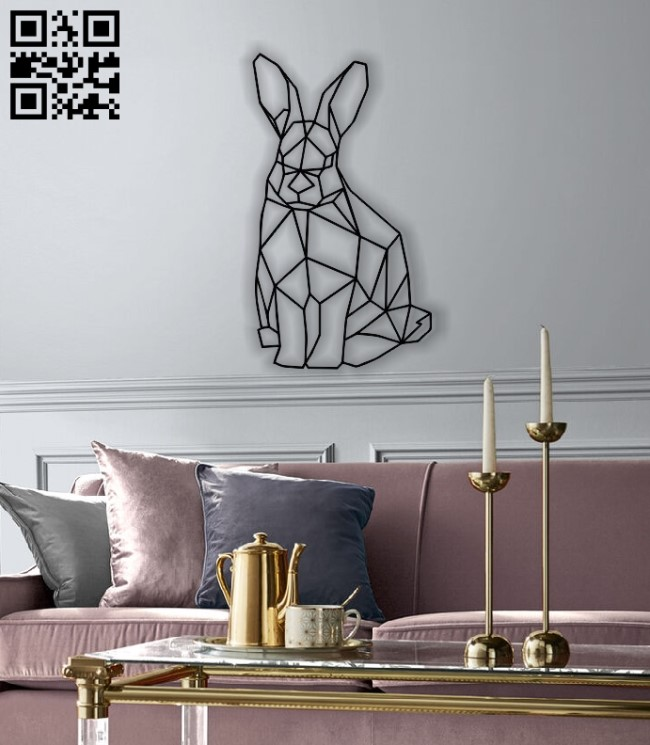 Bunny mural E0012841 file cdr and dxf free vector download for laser cut