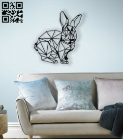 Bunny mural E0012842 file cdr and dxf free vector download for laser cut