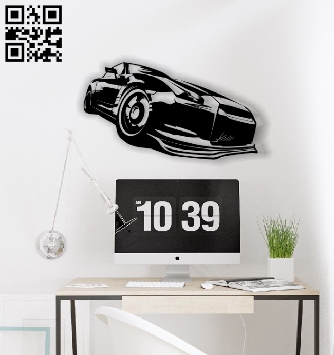 Car E0012662 file cdr and dxf free vector download for laser cut plasma