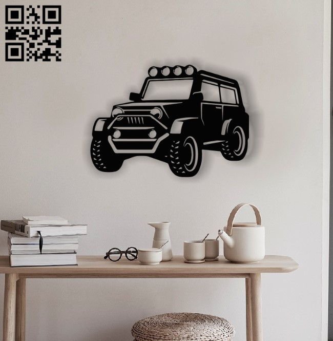 Car E0012737 file cdr and dxf free vector download for laser cut plasma