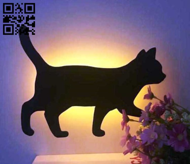 Cat E0012884 file cdr and dxf free vector download for laser cut