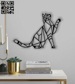 Cat mural E0012805 file cdr and dxf free vector download for laser cut