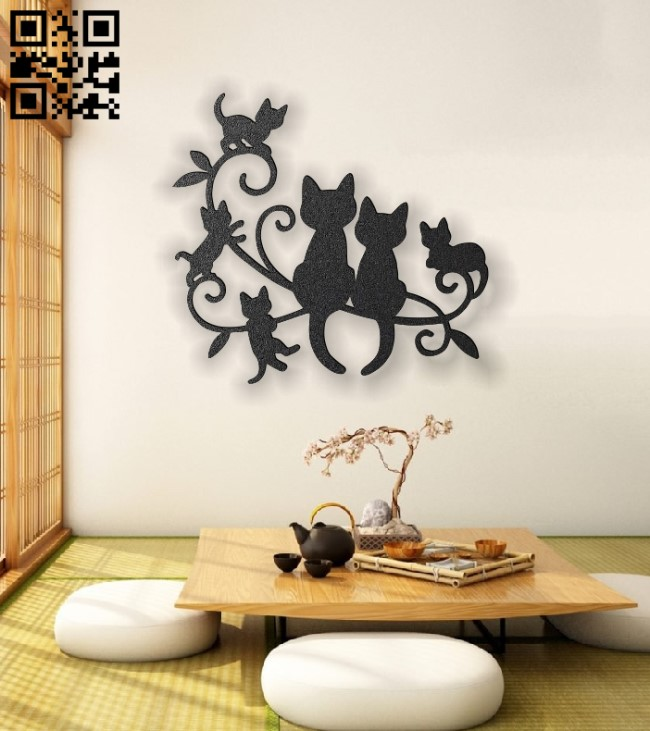 Cats panel E0012858 file cdr and dxf free vector download for laser cut plasma