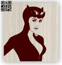Catwoman E0012658 file cdr and dxf free vector download for laser engraving machines