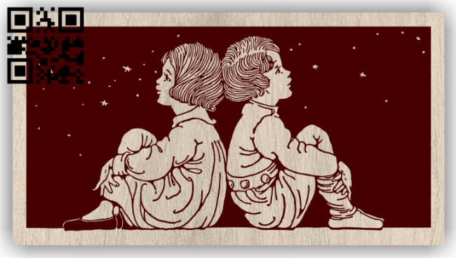 Childrens E0012828 file cdr and dxf free vector download for laser engraving machines
