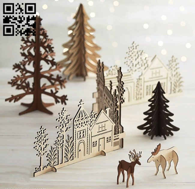 Christmas E0012674 file cdr and dxf free vector download for laser cut