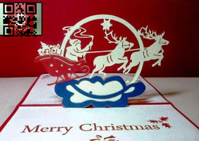 Christmas card E0012791file cdr and dxf free vector download for laser cut