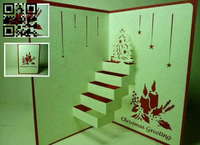 Christmas card E0012816 file cdr and dxf free vector download for laser cut plasma