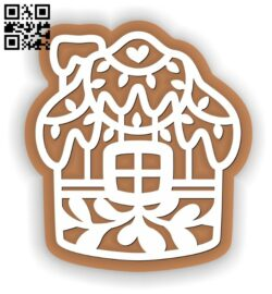 Christmas gingerbread E0012593 file cdr and dxf free vector download for laser cut