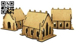 Church E0012753 file cdr and dxf free vector download for laser cut