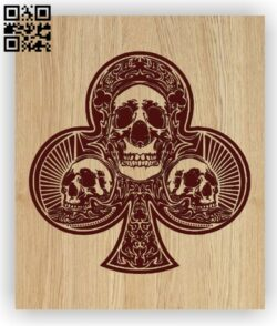 Club Card with skull E0012777 file cdr and dxf free vector download for laser engraving machines