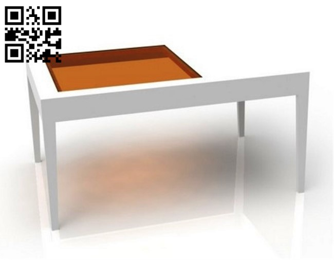 Coffee table with glass top E0012771 file cdr and dxf free vector download for laser cut