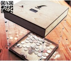 Coin box E0012863 file cdr and dxf free vector download for laser cut