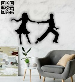 Dancing couple E0012852 file cdr and dxf free vector download for laser cut plasma
