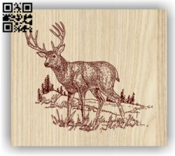 Deer E0012656 file cdr and dxf free vector download for laser engraving machines