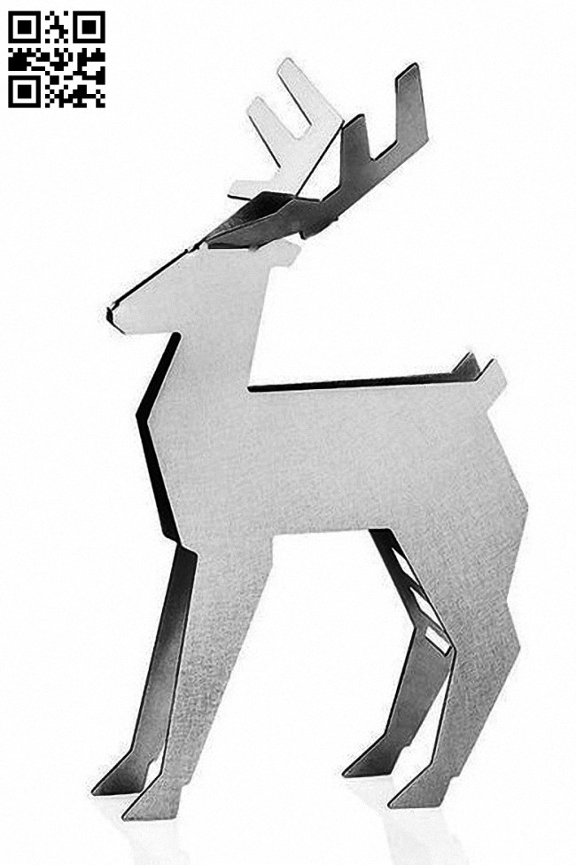 Deer E0012755 file cdr and dxf free vector download for laser cut plasma
