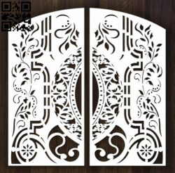 Design pattern door E0012632 file cdr and dxf free vector download for laser cut cnc