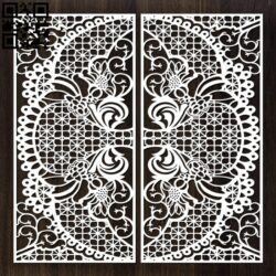 Design pattern door E0012633 file cdr and dxf free vector download for laser cut cnc