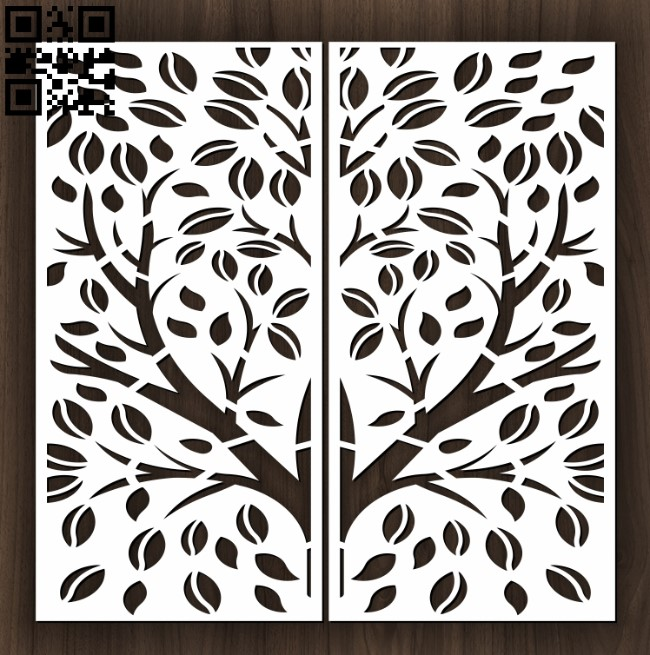 Design pattern door E0012634 file cdr and dxf free vector download for laser cut cnc