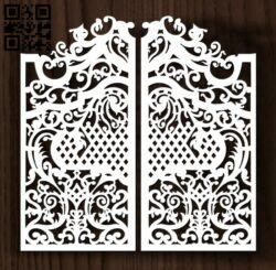 Design pattern door E0012714 file cdr and dxf free vector download for laser cut cnc