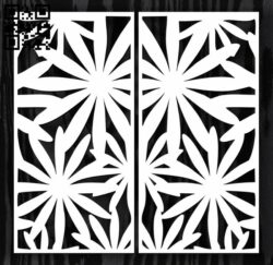 Design pattern door E0012715 file cdr and dxf free vector download for laser cut cnc