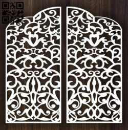 Design pattern door E0012796 file cdr and dxf free vector download for laser cut cnc