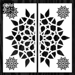 Design pattern door E0012906 file cdr and dxf free vector download for laser cut cnc