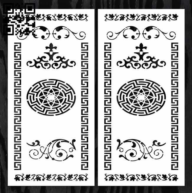 Design pattern door E0012907 file cdr and dxf free vector download for laser cut cnc
