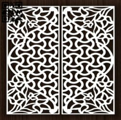 Design pattern door E0012909 file cdr and dxf free vector download for laser cut cnc