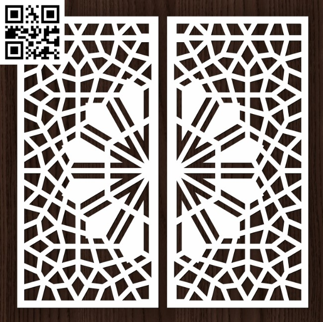 Design pattern door E0012910 file cdr and dxf free vector download for laser cut cnc