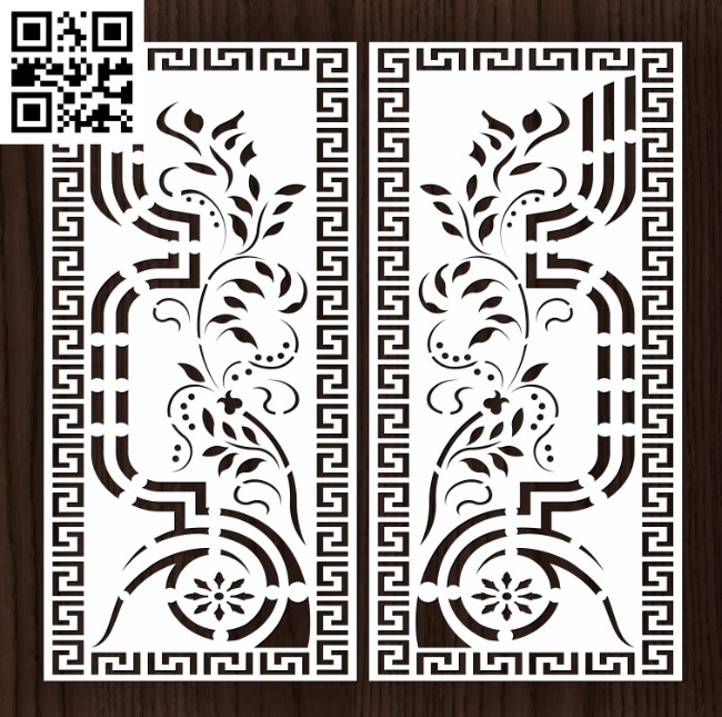 Design pattern door E0012911 file cdr and dxf free vector download for laser cut cnc