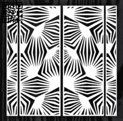 Design pattern screen panel E0012713 file cdr and dxf free vector download for laser cut cnc