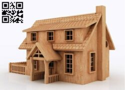 Doll house E0012686 file cdr and dxf free vector download for laser cut