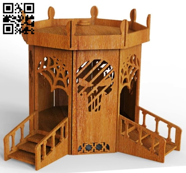 Doll house E0012883 file cdr and dxf free vector download for laser cut