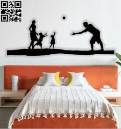 Family Painting E0012637 file cdr and dxf free vector download for laser cut plasma