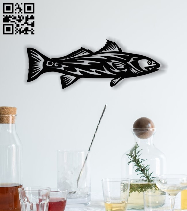 Fish panel E0012857 file cdr and dxf free vector download for laser cut plasma