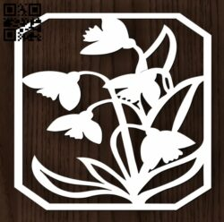 Flowers panel E0012800 file cdr and dxf free vector download for laser cut