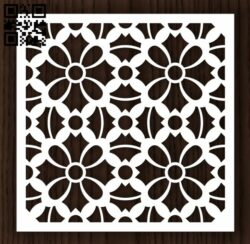 Flowers panel E0012801 file cdr and dxf free vector download for laser cut