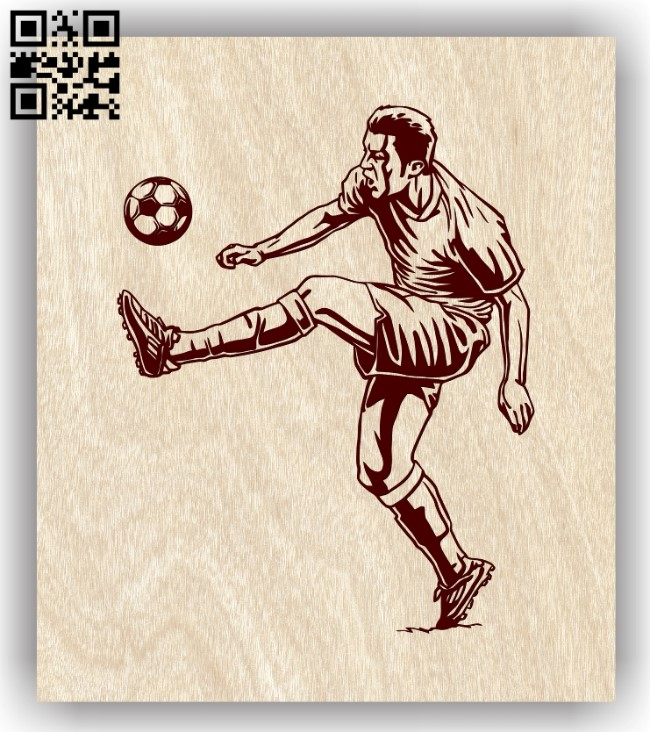 Football player E0012829 file cdr and dxf free vector download for laser engraving machines
