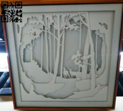 Forest Animals light box E0012609 file cdr and dxf free vector download for laser cut