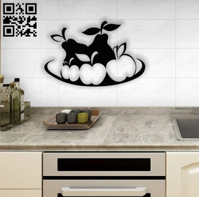 Fruit plate kitchen decoration E0012661 file cdr and dxf free vector download for laser cut