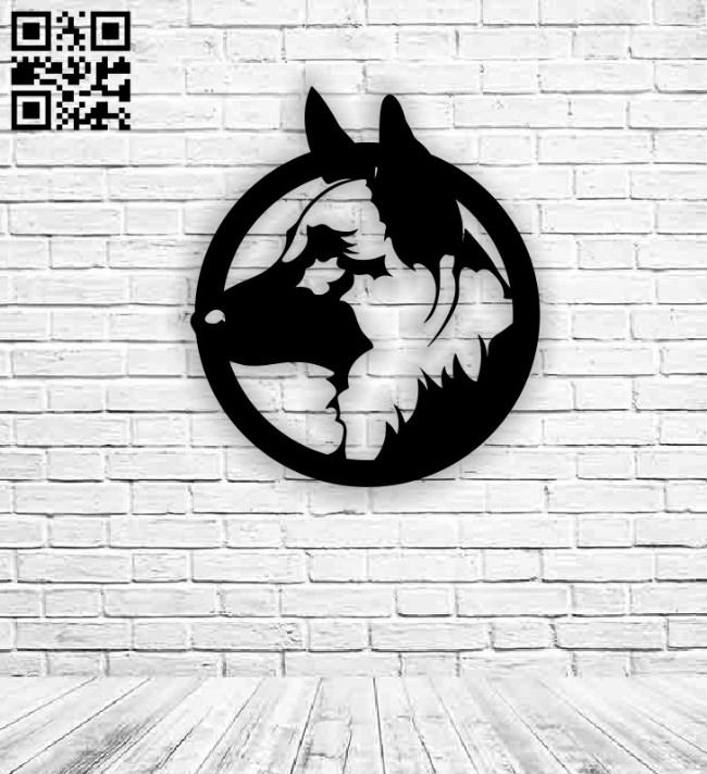 German dog E0012699 file cdr and dxf free vector download for laser cut plasma