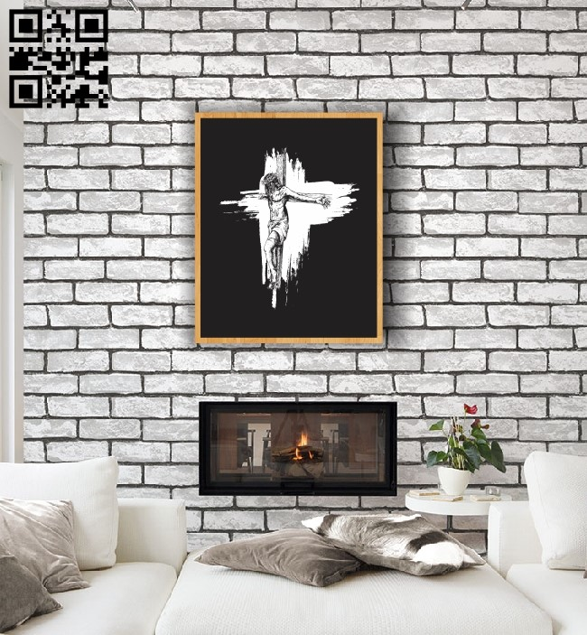 God with the cross E0012678 file cdr and dxf free vector download for laser engraving machines