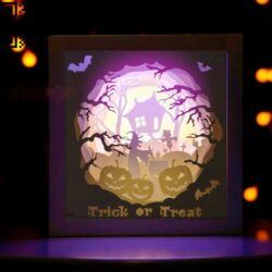 Halloween light box E0012652 file cdr and dxf free vector download for laser cut