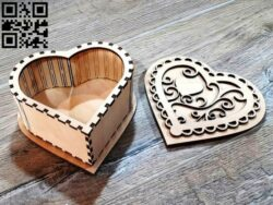 Heart box E0012646 file cdr and dxf free vector download for laser cut