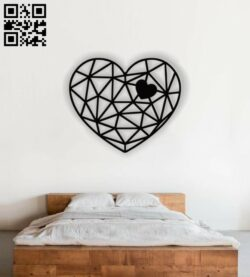 Heart panel E0012729 file cdr and dxf free vector download for laser cut