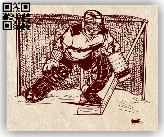 Hockey E0012830 file cdr and dxf free vector download for laser engraving machines